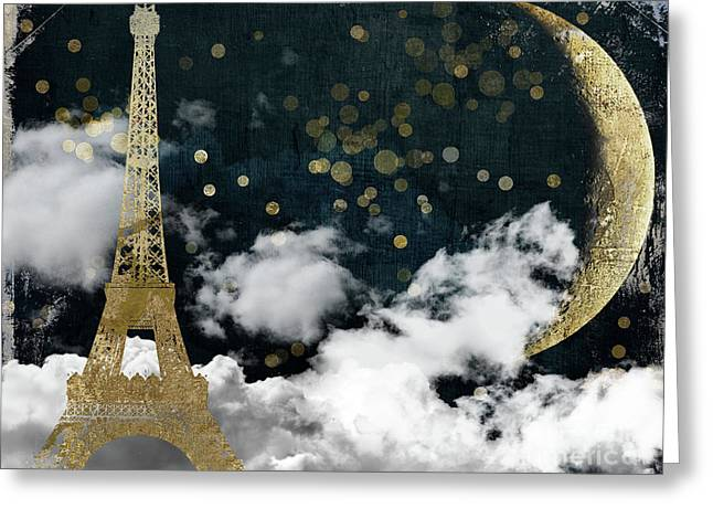 Cloud Cities Paris Greeting Card by Mindy Sommers