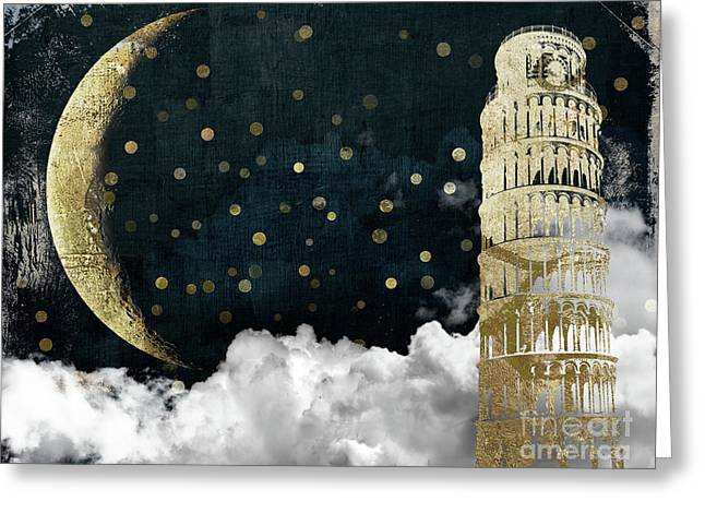 Cloud Cities Pisa Italy Greeting Card by Mindy Sommers