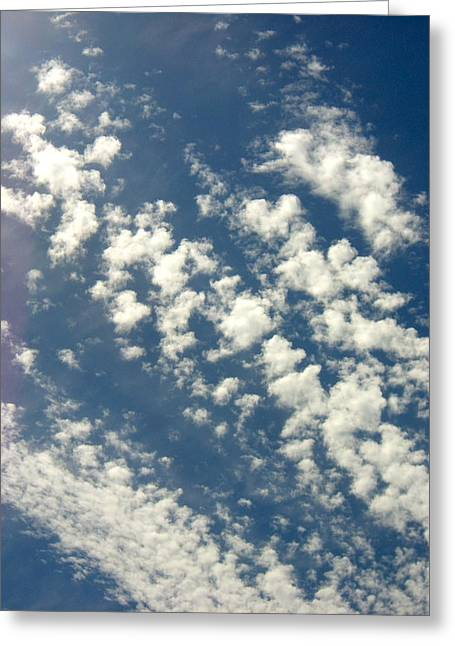 Cloud Clusters Greeting Card by Kimberly Morin