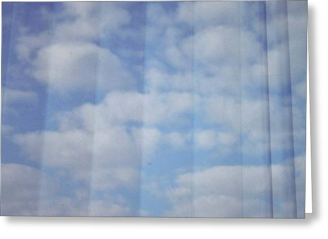 Cloud Curtain Greeting Card by Julia Walsh