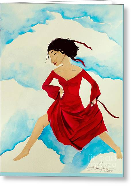 Cloud Dancing Of The Sky Warrior Greeting Card