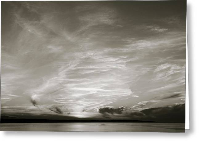 Cloud Drama Bw Greeting Card