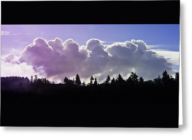 Cloud Express Greeting Card by Adria Trail
