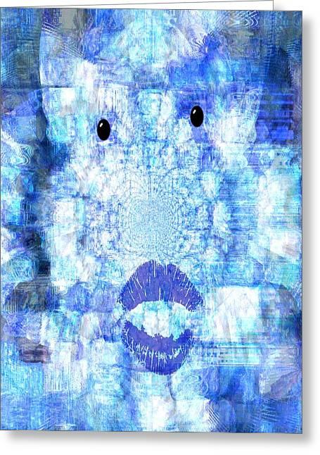 Cloud Face Greeting Card