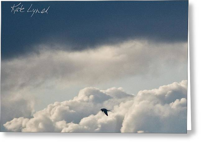 Cloud Flyer Greeting Card