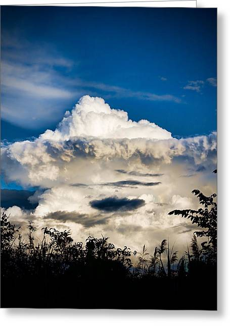 Cloud Formation Greeting Card by Michel Filion
