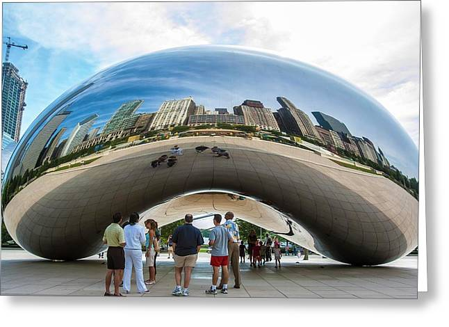 Cloud Gate Aka Chicago Bean Greeting Card