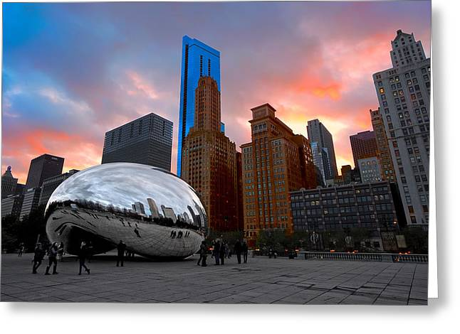 Cloud Gate Chicago Greeting Card