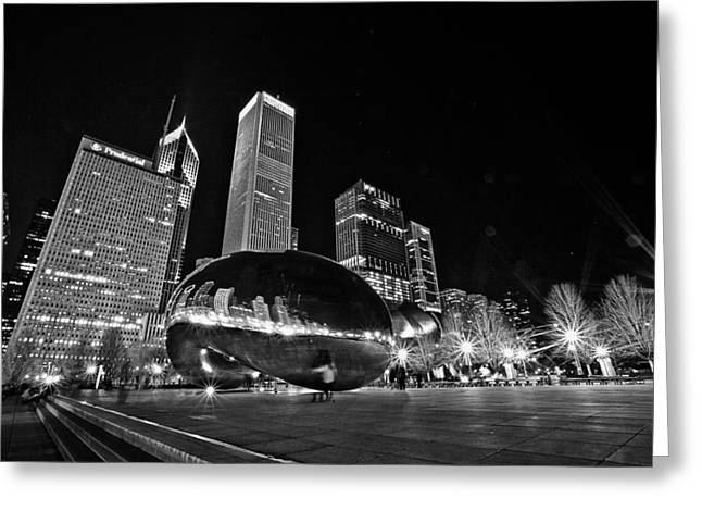 Cloud Gate Greeting Card by CJ Schmit