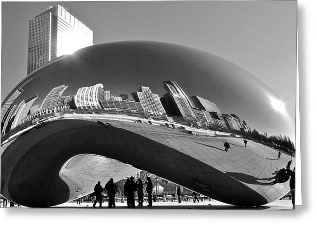Cloud Gate Greeting Card by Sheryl Thomas