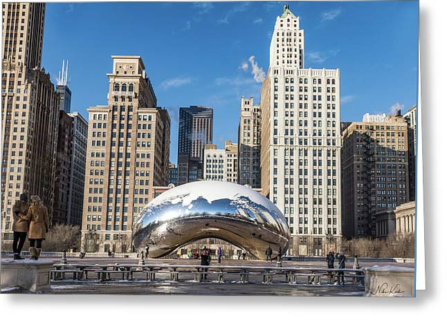 Cloud Gate To Chicago Greeting Card