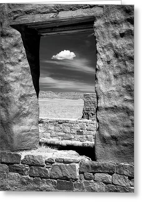 Greeting Card featuring the photograph Cloud In The Window by James Barber