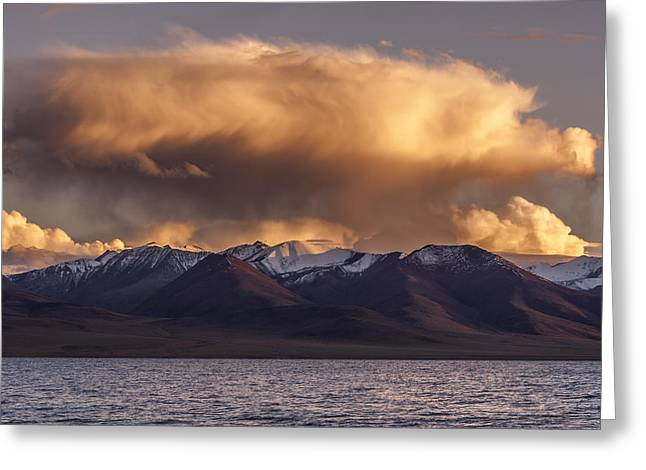 Cloud Over Namtso Greeting Card