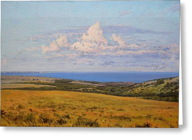 Summer Day Greeting Cards - Cloud over the river  Greeting Card by Andrey Soldatenko