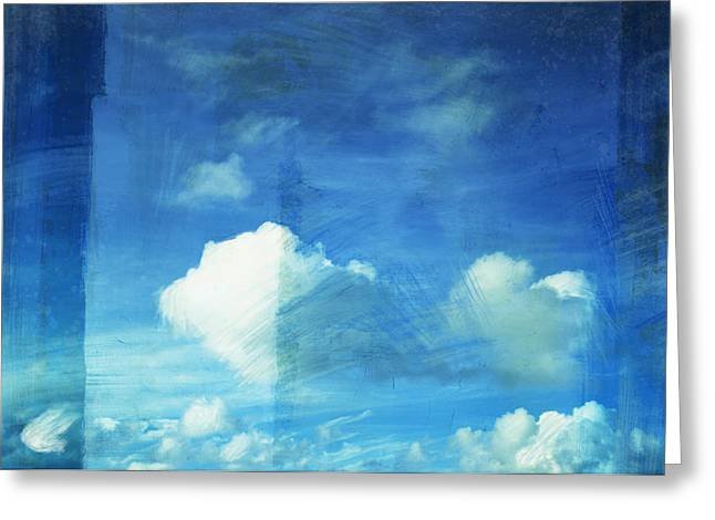 Blank Pages Greeting Cards - Cloud Painting Greeting Card by Setsiri Silapasuwanchai