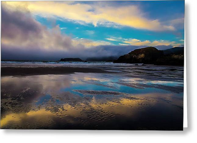 Cloud Reflections Greeting Card by Garry Gay