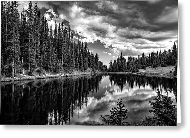 Cloud Reflections Of Lake Irene Greeting Card