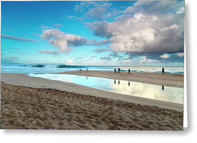 Cloud Reflections Greeting Card by Sean Davey