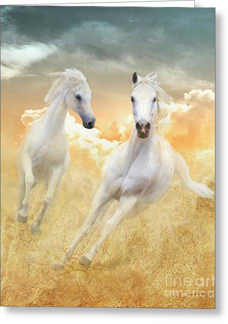 Greeting Card featuring the photograph Cloud Runners by Melinda Hughes-Berland