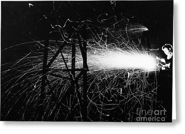 Greeting Card featuring the photograph Cloud Seeding, 1948 by Granger