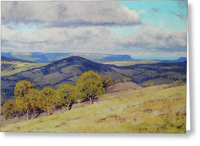 Cloud Shadows Over The Kanimbla Valley Greeting Card by Graham Gercken
