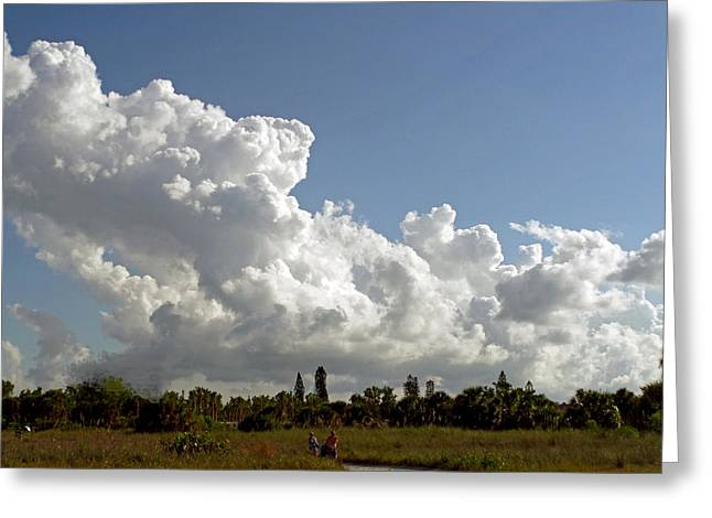 Cloud Show Greeting Card by Pepsi Freund