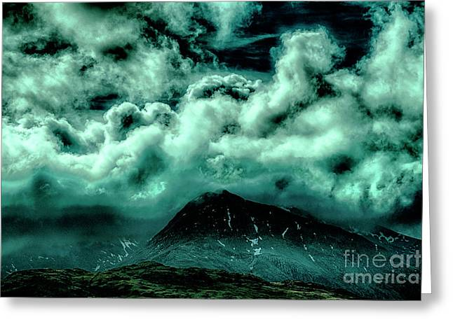Cloud Strewn - Mysterious Skies Greeting Card by Christopher Maxum