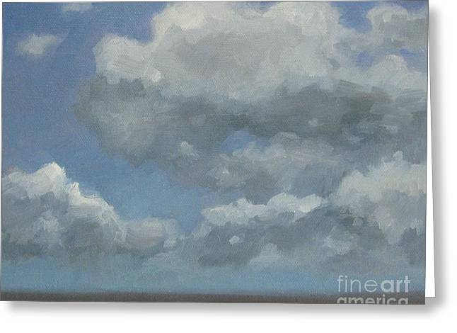 Greeting Card featuring the painting Cloud Study #3 by Jennifer Boswell