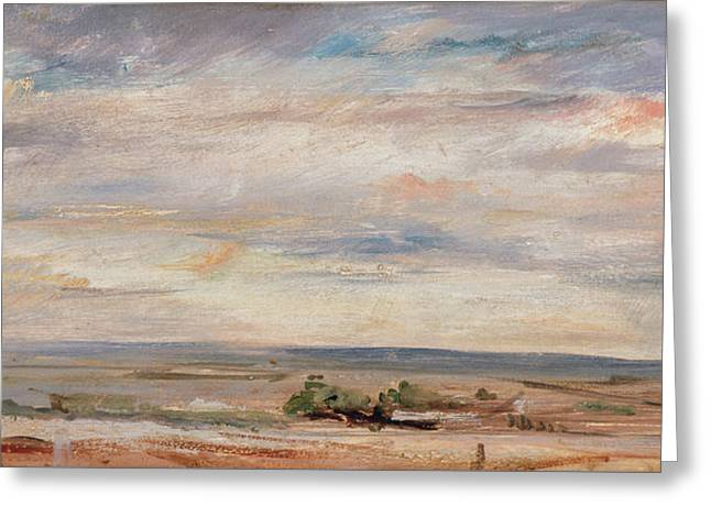Cloud Study, Early Morning, Looking East From Hampstead Greeting Card by John Constable
