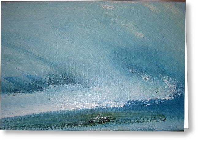 Cloud Study Greeting Card by Judy  Blundell