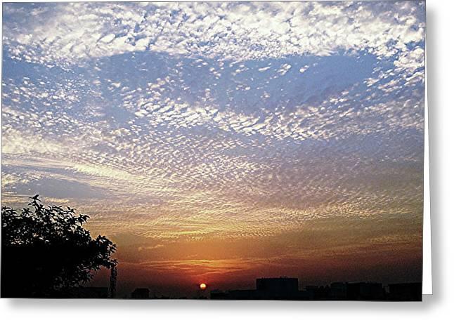 Cloud Swirl At Sunrise Greeting Card