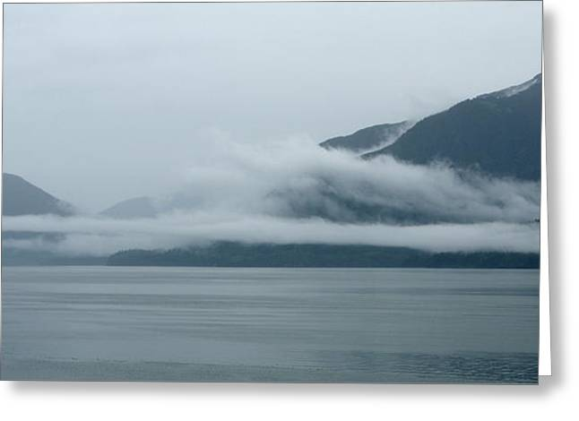 Cloud-wreathed Coastline Inside Passage Alaska Greeting Card
