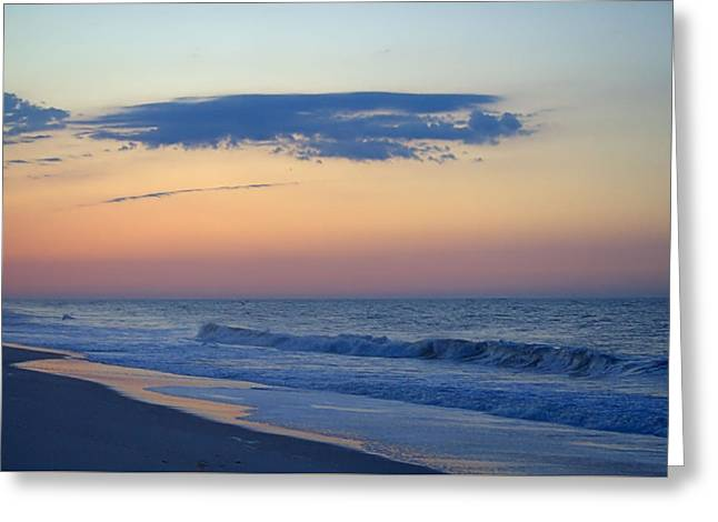 Greeting Card featuring the photograph Clouded Pre Sunrise by  Newwwman