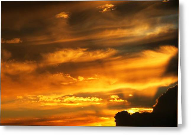 Clouded Sunset Greeting Card by Kyle West