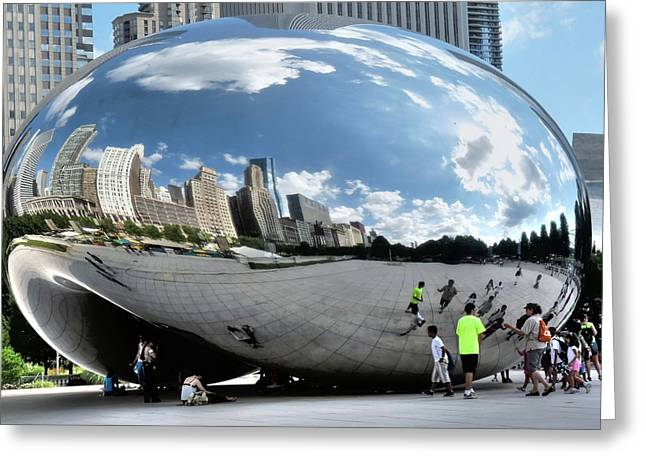 The Bean Greeting Cards - Cloudgate in summer Greeting Card by David Bearden