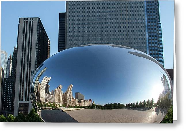 Cloudgate Reflects Greeting Card