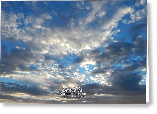 Clouds #4049 Greeting Card