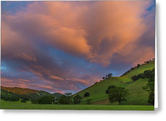 Clouds Above Round Valley At Sunrise Greeting Card