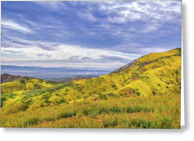 Greeting Card featuring the photograph Clouds Above Temblor Range by Marc Crumpler