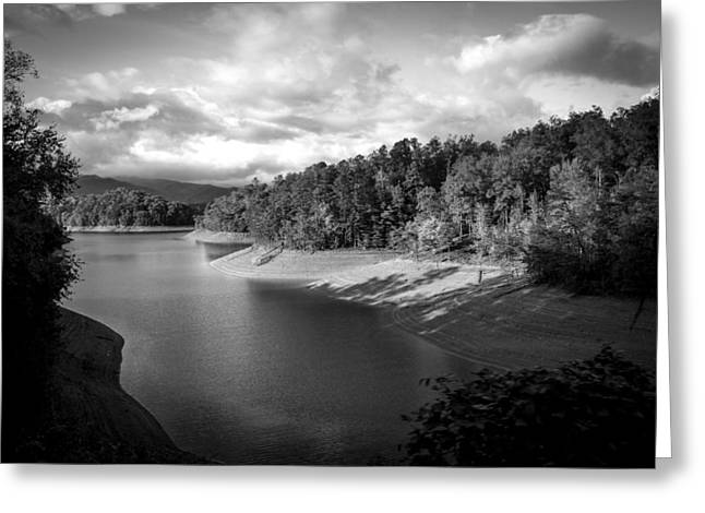 Clouds Above The Nantahala River In Nc Greeting Card by Kelly Hazel