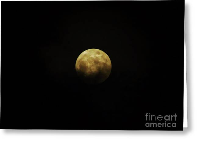 Clouds Across The Moon Greeting Card