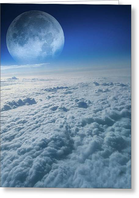 Clouds Aerial View Greeting Card by Art Spectrum