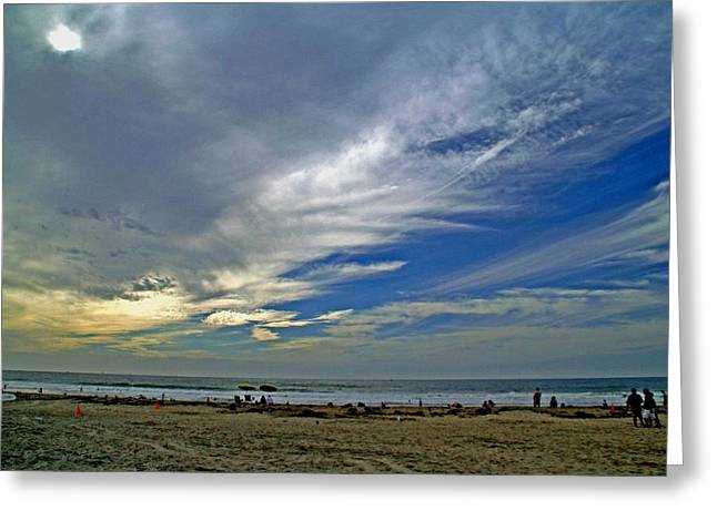 Greeting Card featuring the photograph Clouds And Blue by Christopher Woods