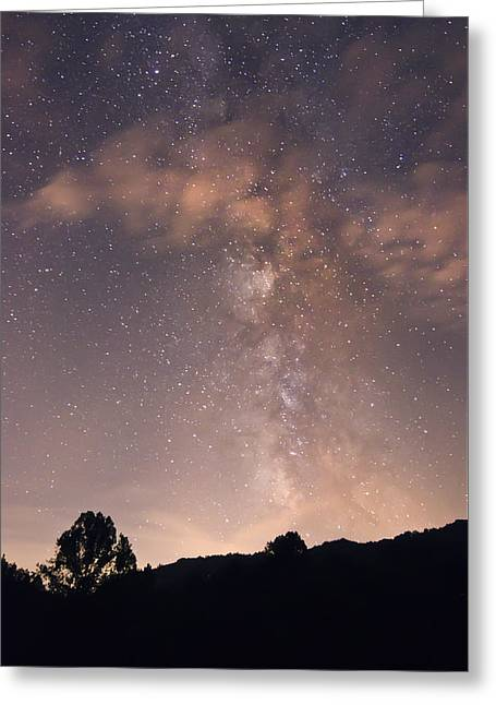 Clouds And Milky Way Greeting Card