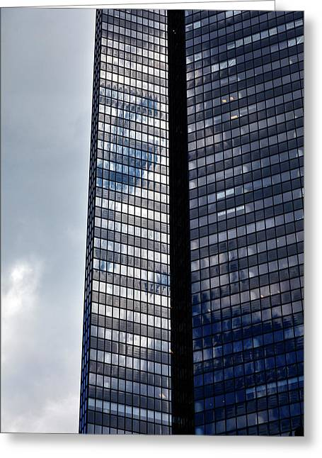 Clouds And Office Building Midtown  Greeting Card by Robert Ullmann