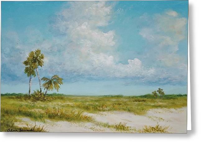 Clouds And Palms By Alan Zawacki Greeting Card