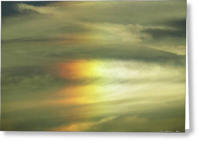 Clouds And Sun Greeting Card