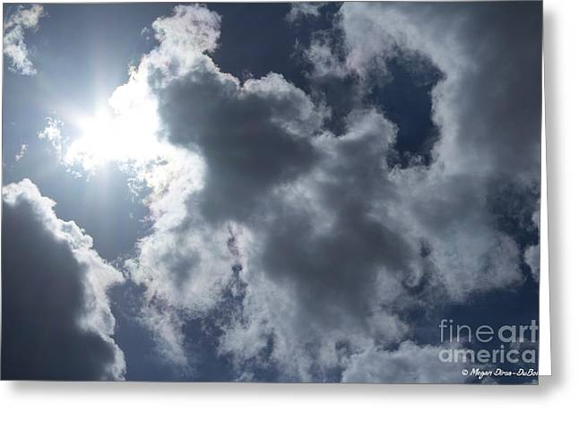 Greeting Card featuring the photograph Clouds And Sunlight by Megan Dirsa-DuBois