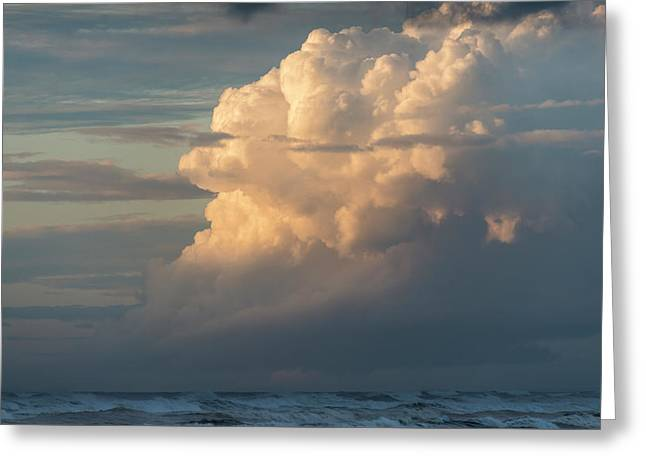 Clouds And Surf Greeting Card