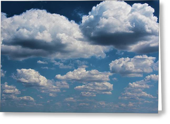 Clouds As Far As The Eye Can See Greeting Card